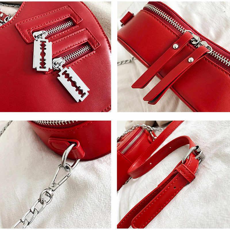 Leuke Portemonnees Vrouwen Handtas Mode Hartvormige Schoudertas Keten Lederen Crossbody Bag Lady Purse Clutch Messenger Bag