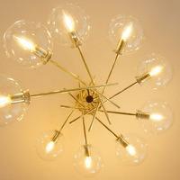 Changeable Gold Glass Ball Magic Beans Chandelier Metal Lighting Fixtures Chandelier Luminaire Suspendu kitchen dining bar