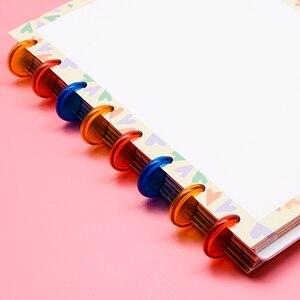 Image 3 - B6/A5 discbound キノコ穴ノートブック 60 シートまたは 80 リフィルシートバックに学校の文房具 CX19 002 1