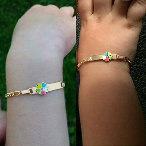 Красочные украшения для браслетов младенцев, маленьких детей, для крещения, нарукавная повязка, золотой браслет, детский Pulseiras Bileklik, дочь, сы...