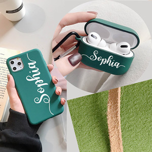 Image 5 - Personalized Name Phone Case for iPhone 11 12 Pro Max Xs XR  X se 6 7 8 Plus 2020 Case match with airpods 2 &1 case  Keychain