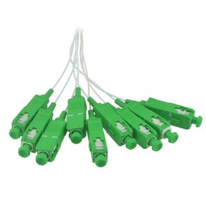 Image 4 - 10 PCS/Lot 1X2 1X4 1X8 1X16 1X32 PLC SC/APC SM 0.9mm G657A1 PVC 1m FTTH Fiber Optic Splitter