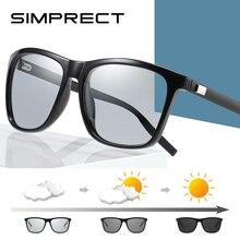 SIMPRECT Photochromic Sunglasses Men 2020 Retro Square Polar