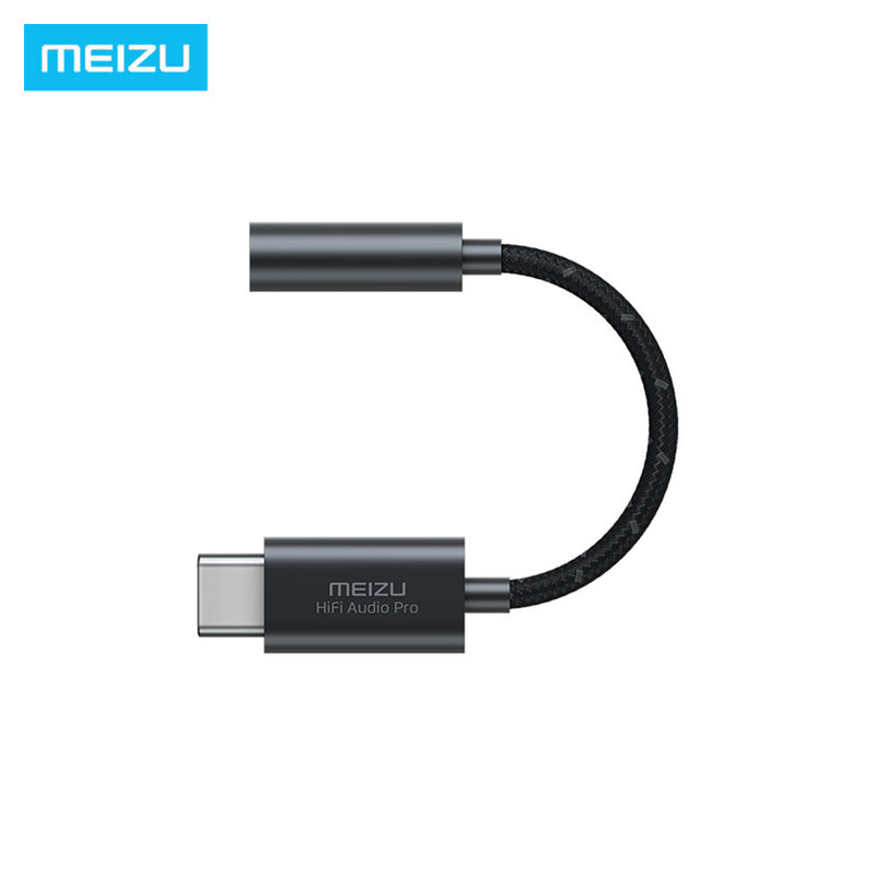 Original Meizu HIFI DAC Earphone Amplifier PRO Type-C To 3.5mm Audio Adapter Cirrus & TI Super Two Stage Amplifier Lossless