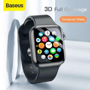 Baseus 0.23mm cienkie szkło ochronne do Apple Watch 1 2 3 4 5 3D pełne pokrycie szkło hartowane do iWatch 4 3 2 Screen Protector