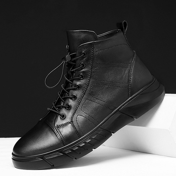 men Snow boots genuine leather Fashion Men Winter Boots Timber Land Work Shoes Martins Ankle Boot military Boots Big Size 48 s5