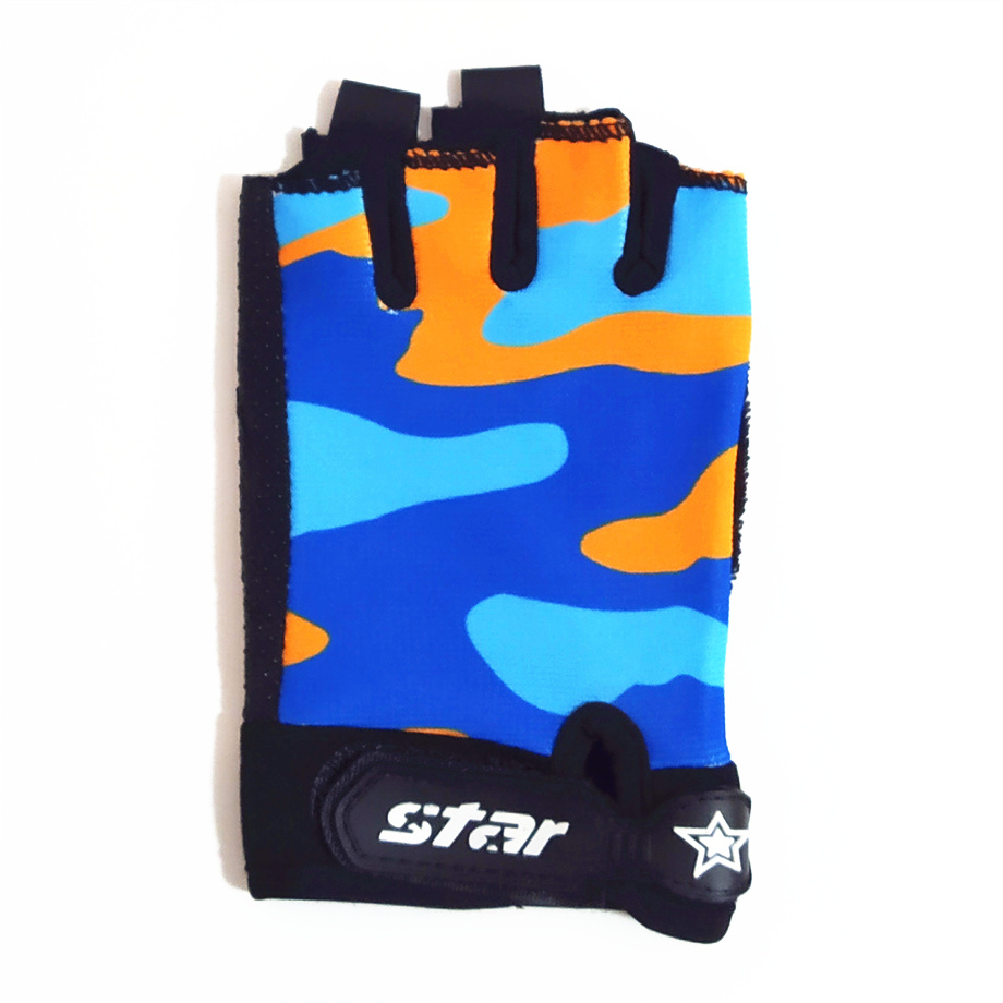 Tiptop children half finger cycling gloves for outdoor fun & sport football ski running anti-slip camouflage gloves for boy and girl