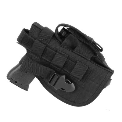 Tactical 600D Molle Gun Holster Military Rifle Bag for Right Hand Adjustable Handgun Holder with Mag Pouch Hunting Accessories 1