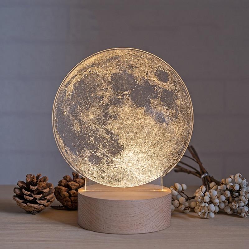 Christmas 2020 Moon Light Bedside Table Desktop Lamp LED Xmas Gift Home Decor Room Decoration Night ночник лампа Lampara lampe|Table Lamps| - AliExpress