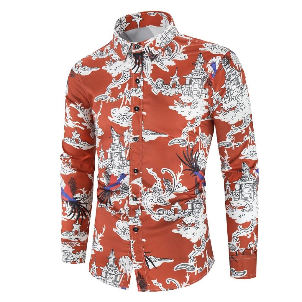 Mens Autumn Fashion Beach Hawaiian Shirt Brand Slim Fit Long Sleeve Floral Shirts Casual Holiday Party Clothing Camisa 11.7