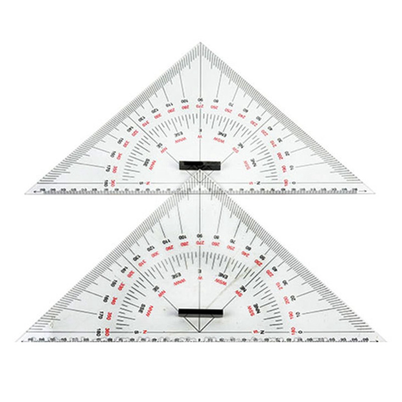 Chart Drawing Tria Ngle Ruler For Ship Drawing 300mm Large-Scale Tri Angle Ruler For Distance Measurement Teaching Engineering D
