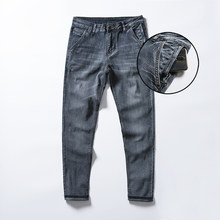 Neue Jeans Männer Gerade Fit Stretch Anti-diebstahl Zipper Denim Hosen Hosen Casual Cowboys Mann Jean(China)