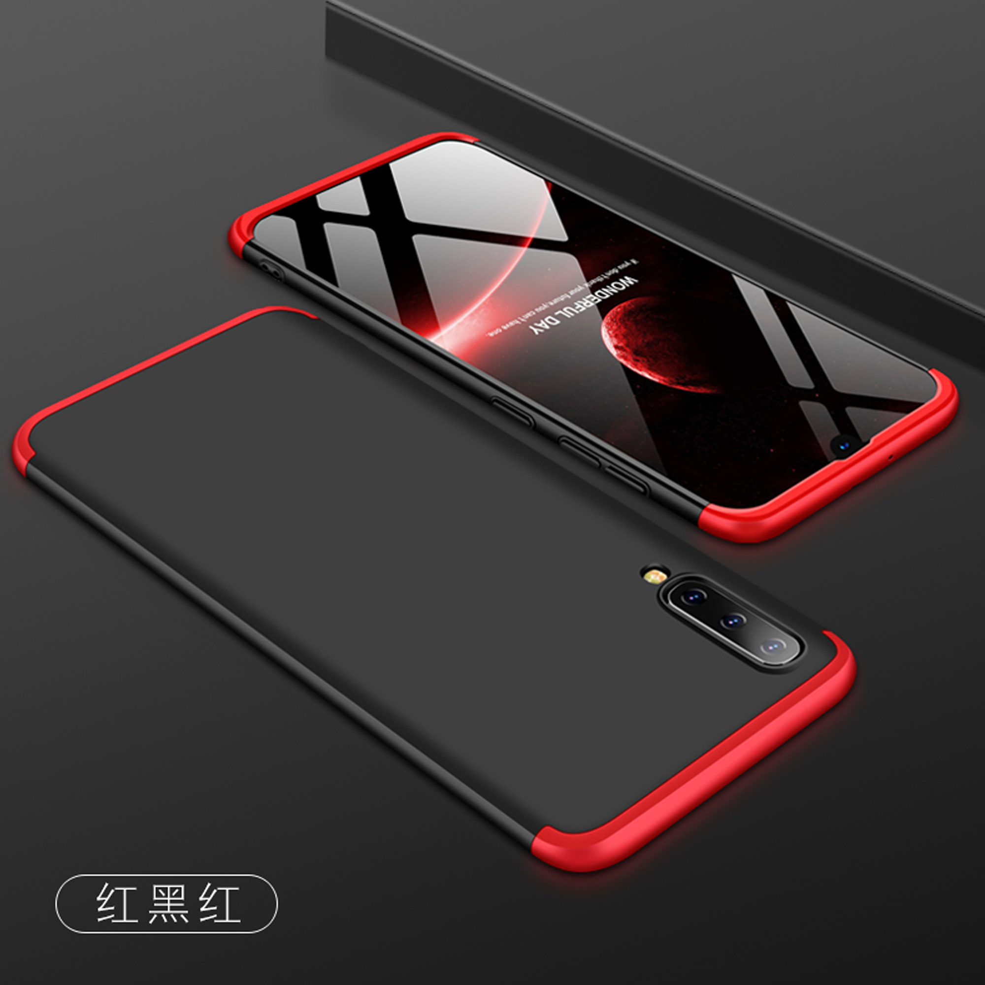 3-In-1 Case 360 For Samsung Galaxy A50 A505 A505F SM-A505F Cases Capa 360 Degree Hard Shell For Samsung A50 A 50 A50 Back Cover