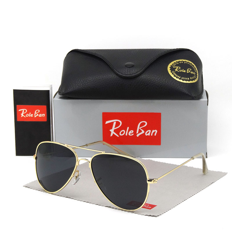 Aviation FAMOUS BRAND DESIGN Classic Sunglasses Men Women Driving Pilot Frame Sun Glasses Male Goggle UV400 And Original Case