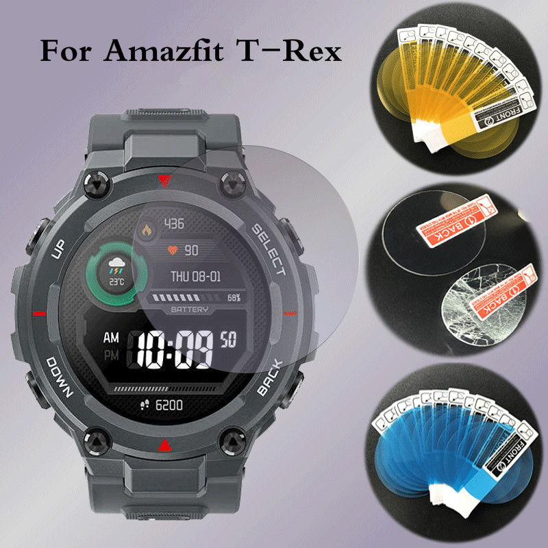 For Huami Watch Amazfit T-REX Tempered Glass Film Anti-scratch Anti-fingerprint HD Protective Film For Amazfit T-Rex Accessories