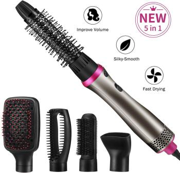 Multifunctional Hair Straightening 5 in 1 Hot Air Brush Styler Comb Brush Negative Ions Hair Styling Tool Blow Dryer Brush 1