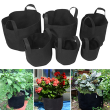 1/2/3/5/7/10 Gallon Grow Bag Black Garden Plants Growing Vegetable Plant Pot Potato Flower