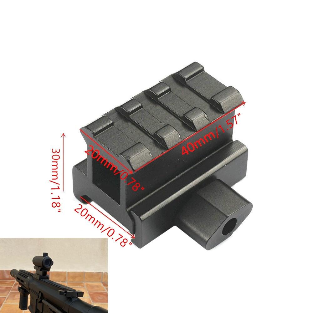 3 Slots QD Quick Release Riser Scope Mount Rifle 20mm Picatinny Weaver Rail Base