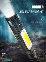 Linterna led luz de trabajo carga usb batería integrada antorcha herramienta de garaje lámpara Reparación de coche camping luz de mano con clip magnético