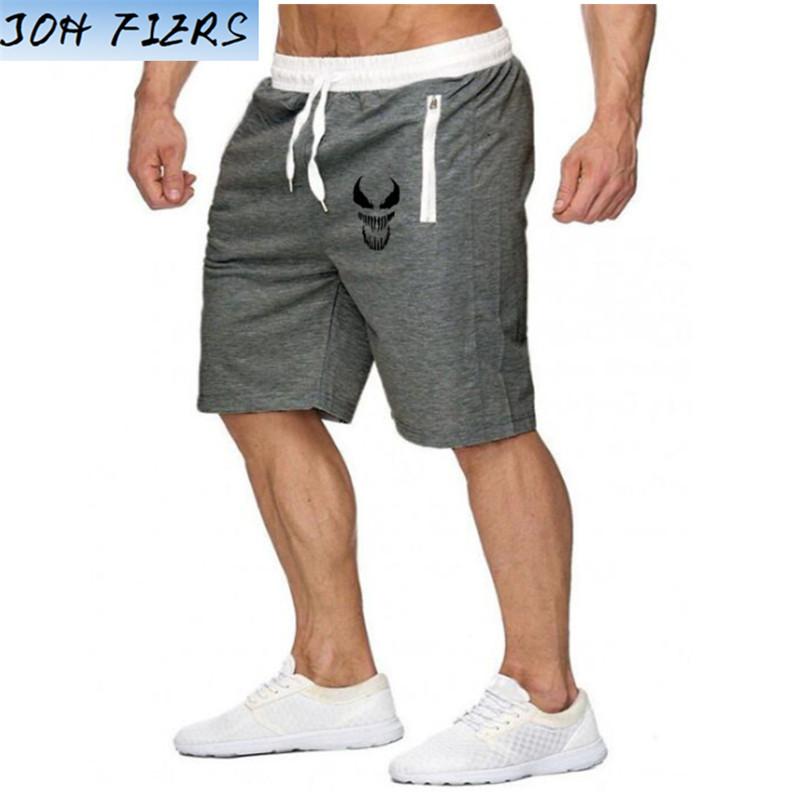 Shorts Mens Bermuda 2019 Summer Beach Men Shorts Venom Print Male Brand Men'S Short Casual Fitness Jogger Plus Size 2XL