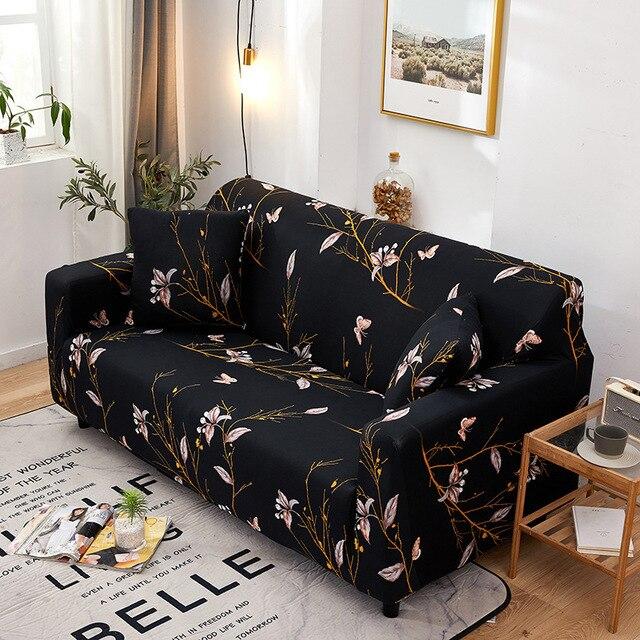 Фото эластичный чехол для дивана с бабочкой защитное покрытие мебели
