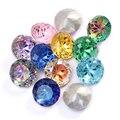 Круглые стразы Rivoli с клеем, 10 мм, заостренные камни, поделки «сделай сам», блестящие стеклянные стразы высокого качества, Кристаллы K9