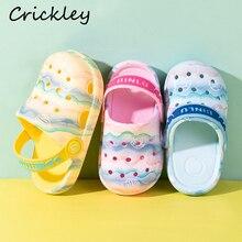 Summer Kids EVA Beach Shoes Summer Sandy Beach Wave Light Waterproof Non Slip Crocs