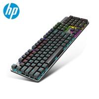 HP GK100 Mechanical Gaming Keyboard Backlight Blue Red Switch 104 Keys Metal Colorful LED Backlit Computer Wired Keyboard Gamer