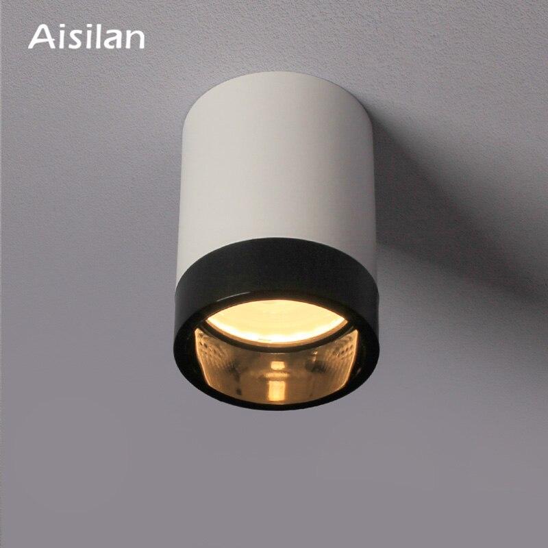 Aisilan крепящийся на поверхность круглый светильник чернила или прозрачные анти-светящееся кольцо дерзкая лампа Точечный светильник потолоч...