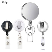 idclip 1PC Metal Retractable Badge Holder Heavy Duty ID Reels with Key Chain Belt Clip / Card