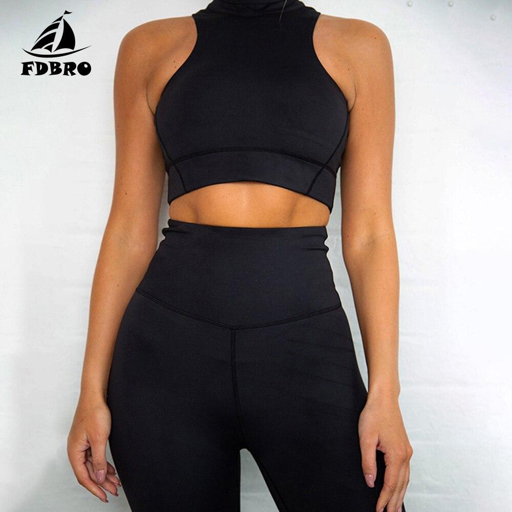 FDBRO Набор для йоги, одежда для тренировок для женщин, Сухой Фитнес-костюм, женский спортивный костюм, спортивная одежда для женщин, спортивна...