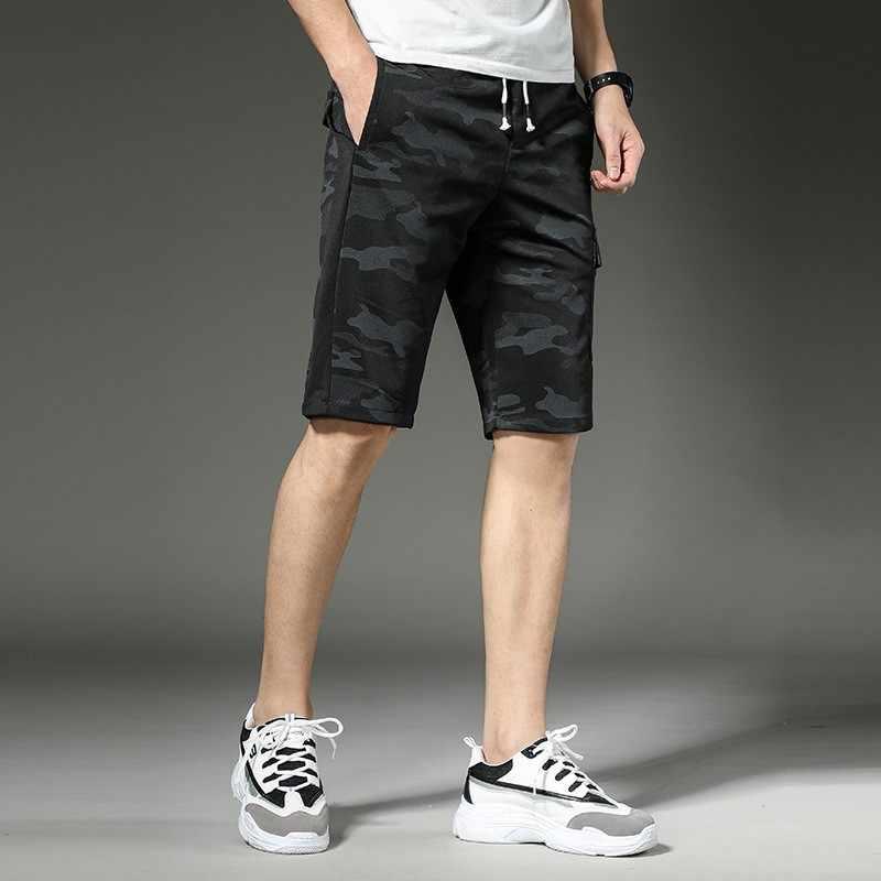 Mode Mannen Knielengte Zomer Shorts Elastische Taille Buiten Jogging Korte Broek Man Slim Fit Camouflage Gedrukt Beach Shorts