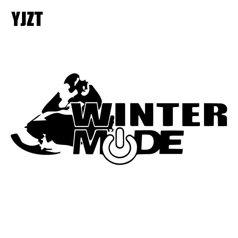 YJZT 18.1CM*7.5CM Snowmobile Decal Winter Mode Creative Car Styling Decoration Decals Cartoon Car Stickers C31-0516