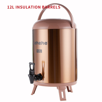 Stainless Steel Insulation Barrel 12L Commercial Insulation Container Hot Water/Soybean Milk/Milk Tea Insulation Bucket