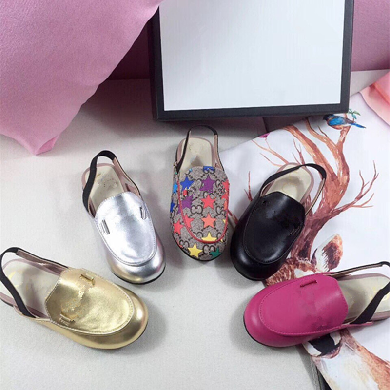 2020 New Girls' White Shoes Kids Brand Shoes Fashion Summer Slippers