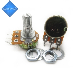 2pcs/lot WH148 15mm Shaft Amplifier Dual Stereo Potentiometer B1K B2K B5K B10K B20K B50K B100K B500K 3Pin 1K 2K 5K 10K 50K 100K