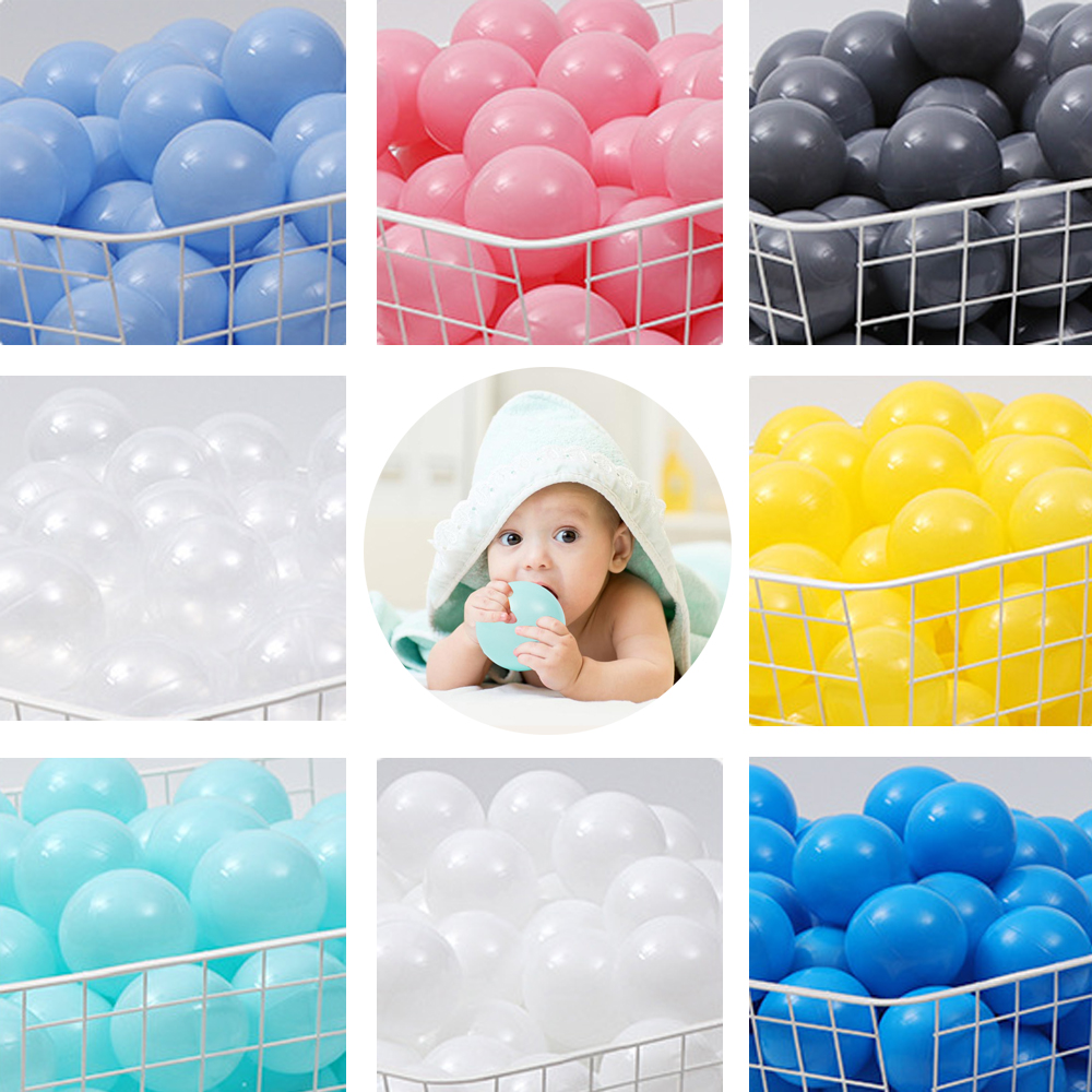 100pcs/lot Dry Pool Balls Ocean Wave Ball Soft Pool Toys Colorful Kid Swim Pit Game 7cm Funny Outdoor Indoor Christmas Present