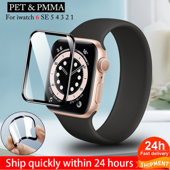 Screen protector film for apple watch 6\se\5\4 38 40 44 42mm PET & PMMA 3D Curved Edge HD Tempered Glass Apple Watch Series - discount item  50% OFF Watches Accessories