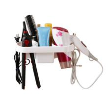 Adhesive Hair Dryer Holder Wall Mount Blower Hair Dryer Hanging Rack Organizer For Bathroom Organizer Storage Hanger Shelf