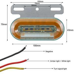 Image 5 - 10 sztuk 12V 24V LED samochodów ciężarówka boczne światła sygnalizacyjne lampy zewnętrzne wskaźnik sygnału lampa ostrzeżenie ogon światło przyczepa ciężarówka autobus łódź