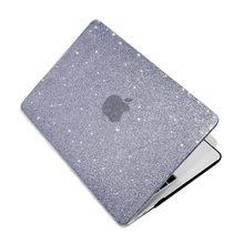 Proteger luva portátil caso duro brilhante glitter capa para macbook air 13 pro 16 a2141 retina 12 15 a1398 a1278 a2338 a1932 a2159