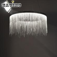 Нордическая декоративная художественная алюминиевая цепь с кисточкой благородный для гостиной спальни гостиничный декоративный светильник