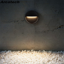 Stair-Light LED Wall-Lamp Aluminum IP65 NR-165 Waterproof Outdoor Square/round 6w 12w