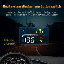 2021ใหม่ล่าสุดHUD Head UpจอแสดงผลOBD2 GPS On Boardคอมพิวเตอร์Autoกระจกความเร็วโปรเจคเตอร์Security Alarmอุณหภูมิน้ำRPMแรงดันไฟฟ้า