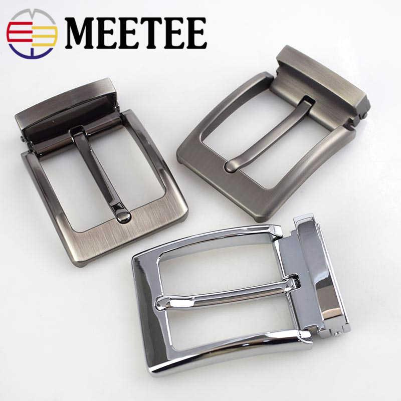 Meetee hebilla de cinturón de 40mm hebilla de Clip de Metal para hombre Accesorios de Jeans artesanales de cuero DIY suministro para cinturón ancho de 3,8 cm-3,9 cm AP034