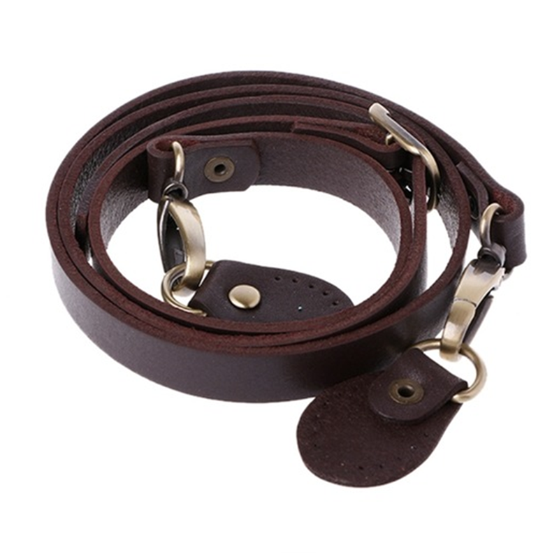 120cm Bags Strap Detachable Handle Real Cowhide Replacement For Women Girls Shoulder Bag Accessories Adjustable Strap Belt Brown