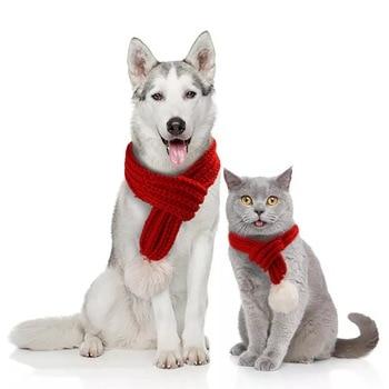 Écharpe pour chien avec ponpon