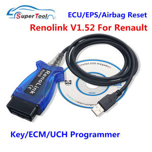 Airbag-Reset Usb-Diagnostic-Cable Reno-Link Programmer-V1.52 OBD2 Renault for ECU Ecu/Key