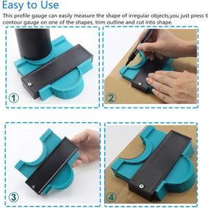Image 3 - Vastar 5 inch Plastic Gauge Contour Profile Copy Gauge Duplicator Standard Width Wood Marking Tool Tiling Laminate Tiles General