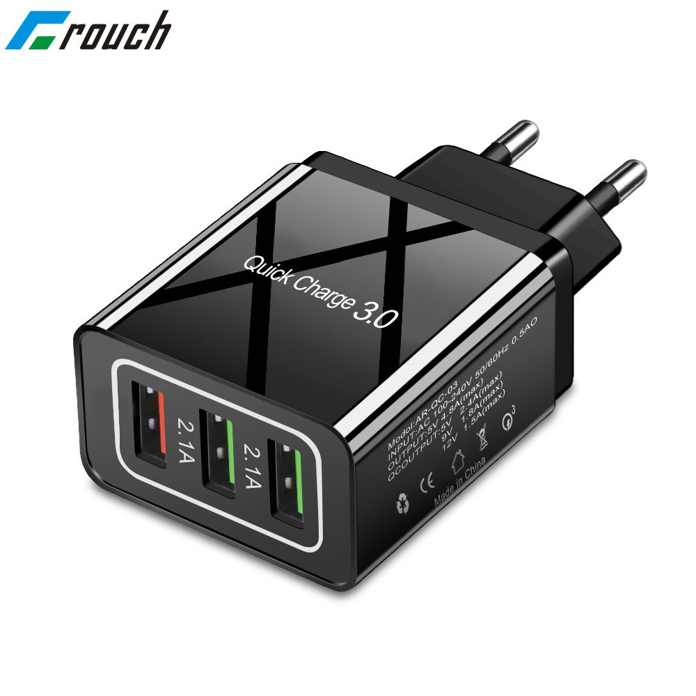 18W Quick Charge 3.0 Fast USB Charger For iPhone 8 XS Samsung Xiaomi huawei Travel Wall EU US Plug Mobile Phone Charger adapter(China)